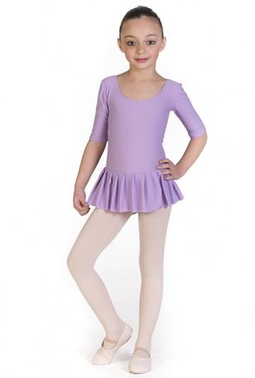 Ballet 3/4 sleeves leotard with skirt for kids Cristel