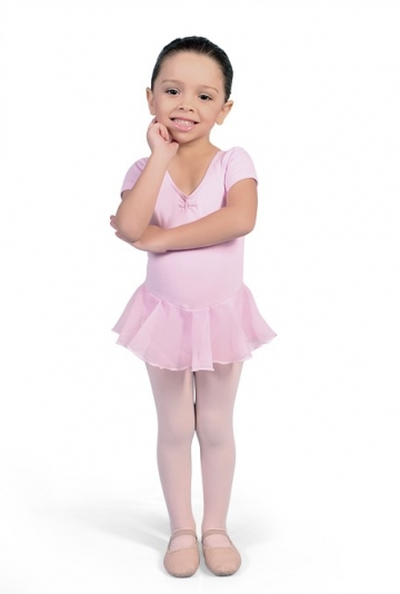 Ballet leotard with chiffon skirt attached for kids Sherly