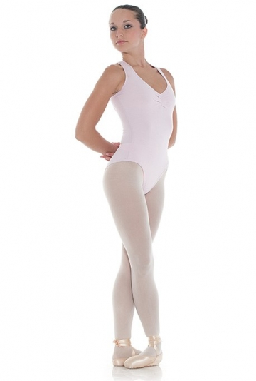 Dance tank leotard with crossover back