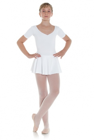 Ballet short sleeve leotard with skirt for girls Maya