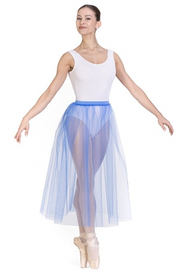 Soft tulle skirt for dance F408