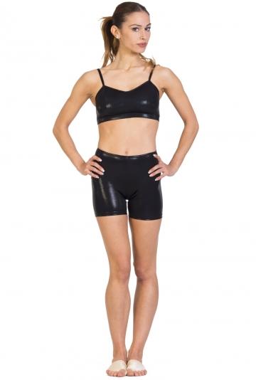 Shiny lycra dance shorts C2142PA