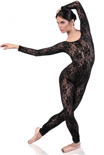 Long sleeve lace dance catsuit JZ108