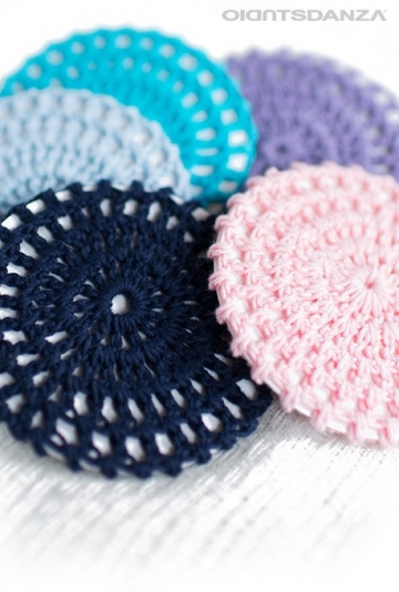 Crochet bun cover for dance H11