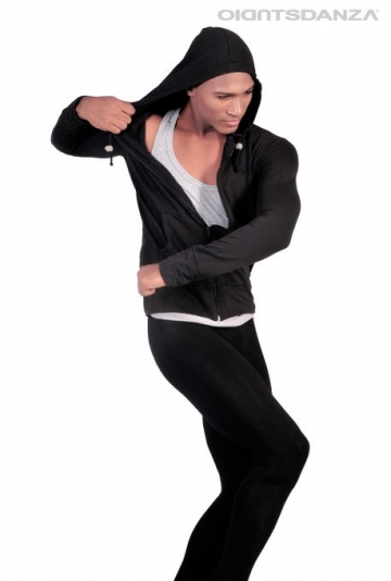 Zip up men's hoodie for dance M907