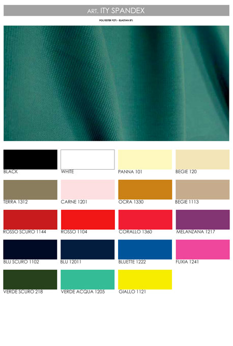 Color chart Ity Spandex