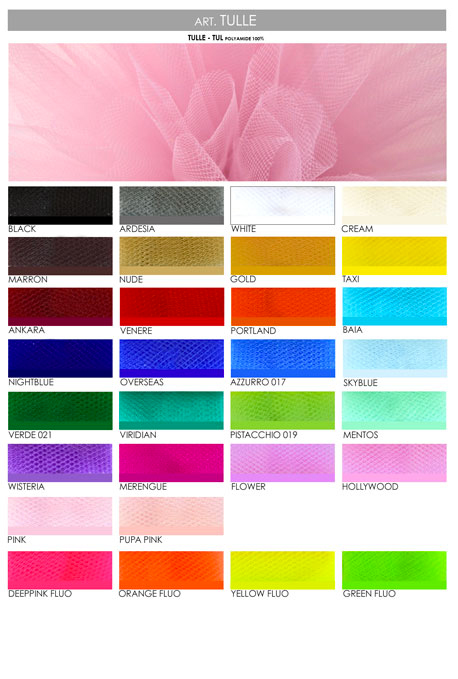Tulle And Tutu Covers Color Charts For Ballet And Dance Studiodanza